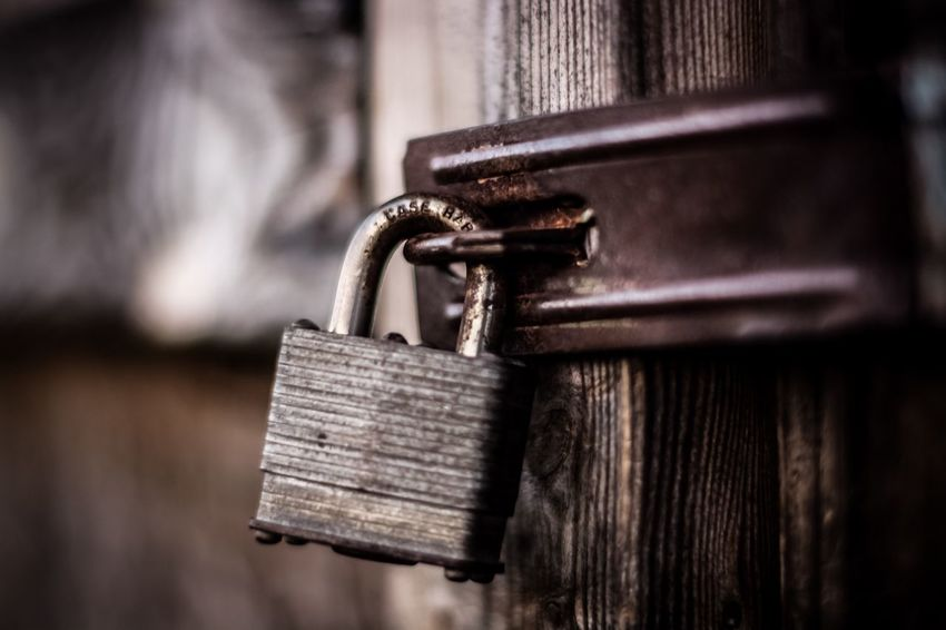 Lock Old Old Buildings Rust Wood Metal