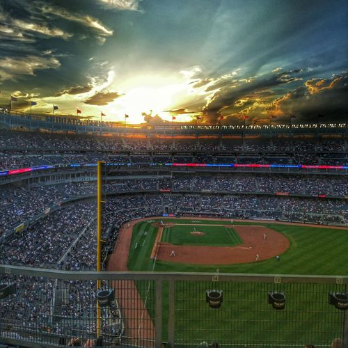 New York Yankee stadium. What Make It Beautiful Planet Earth Outdoor Photography Enjoying Life Living The Good Life Beautiful Sunset Yankees Hello World Onlyinamerica Baseball TheFollowing Original Experiences