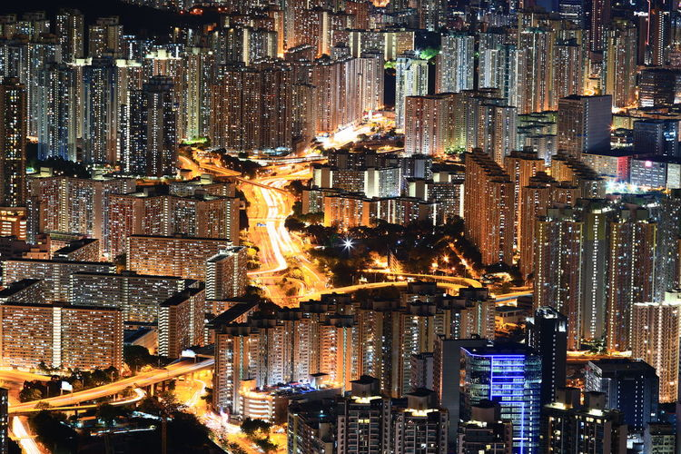 Pattern Full Frame Illuminated No People Cityscape The Week On EyeEm Discoverhongkong 16-35mm F4LCanonphotography Canon 70-200mm F/2.8L Tadaa Community Hello World Lion Rock The Hong Kong Great Outdoors Nightphotography Night Lights Illumination Mobility In Mega Cities