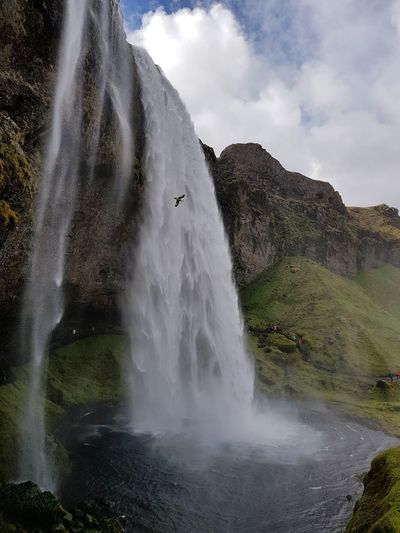 Iceland Islandia EyeEm Selects Water Waterfall Mountain Motion Sky Landscape Cloud - Sky Flowing Water Stream Cliff Rock Formation Natural Landmark Power In Nature Geology