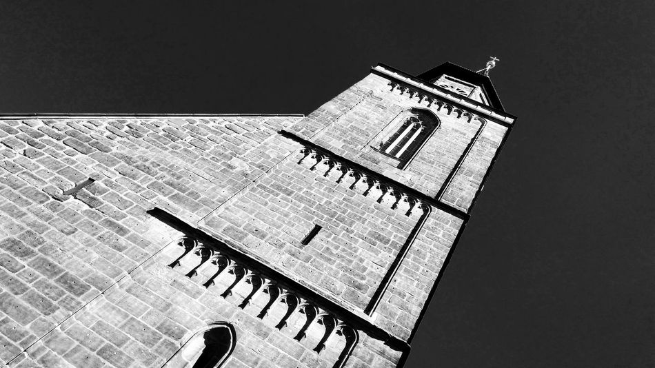 The Architect - 2018 EyeEm Awards Façade Architecture Church Simplicity Blackandwhite Contrast Low Angle View Abstract Historic Building Building Exterior Building Built Structure