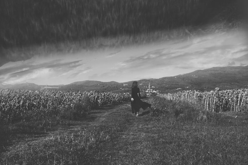 The Photojournalist - 2017 EyeEm Awards Walking Beauty In Nature Grass Blackandwhite Outdoors Landscape Lifestyles EyeEmNewHere Beauty EyeEm Gallery