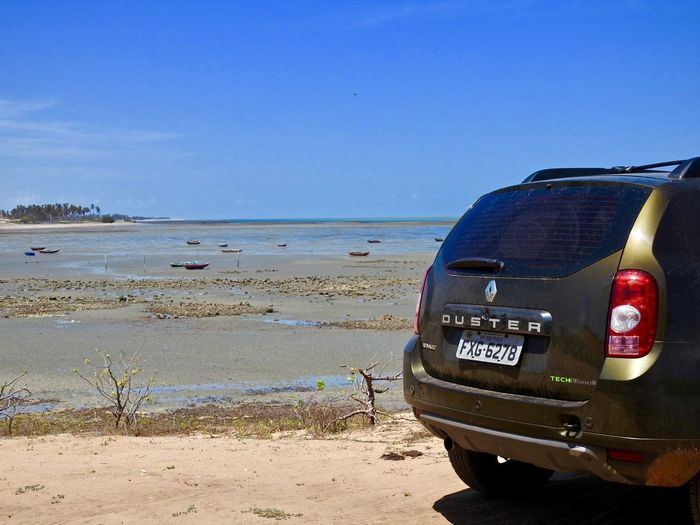 Cajueiro da Praia / Piauí / Brazil Piauí Renault Duster Beach Beauty In Nature Blue Car Clear Sky Close-up Day Horizon Over Water Nature No People Outdoors Overland Roadtrip Sand Scenics Sea Sky Vacations Water