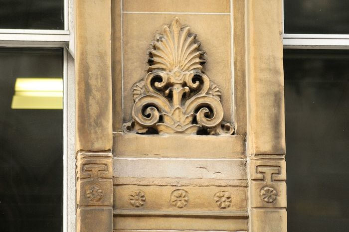 Alexander Greek Thomson Architecture Architecture Building Exterior Buildings Architecture Built Structure Carving - Craft Activity Carving - Craft Product Close-up Day Door Glasgow  GLASGOW CITY Grosvenor Building Glasgow No People Outdoors Sculpture