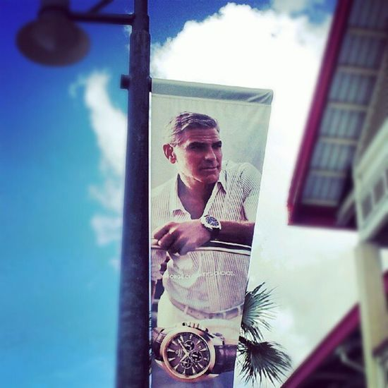 The REAL reason our town is called George Town! Georgetown Caymanislands GeorgeClooney Clooney hot hollywood hunk photo