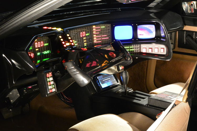 Car Dashboard Indoors  K2000 Knight Rider Movie Cars Paris International Motor Show 2016x Vehicle Interior Vehicle Seat