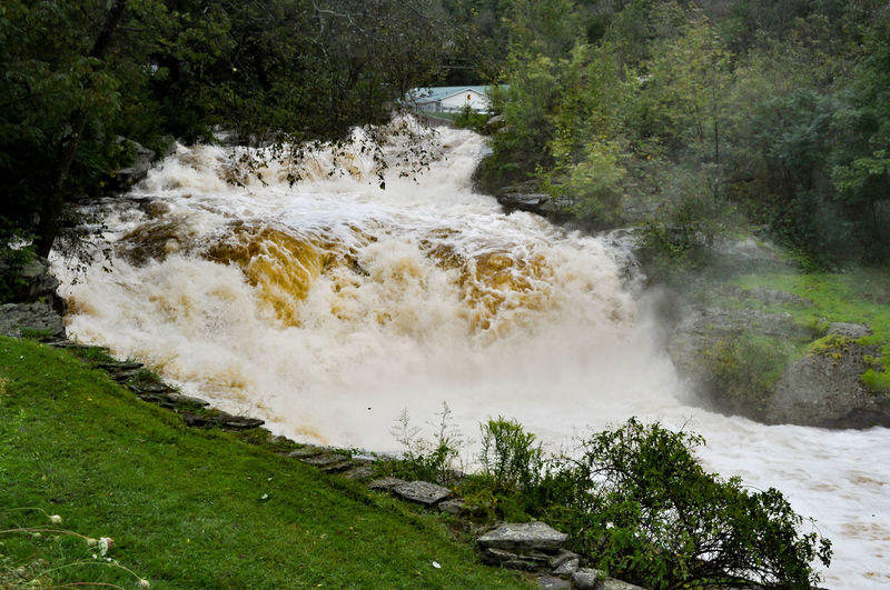 Waterfall After a Hurricane in Honesdale Pennsylvania Honesdale Pennsylvania Storm Beauty In Nature Flood Flooding Hurricane Motion Nature No People Outdoors Poconos River Water Waterfall White Water