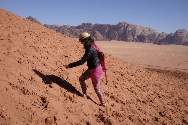 Excursion on the wadi rum dunes