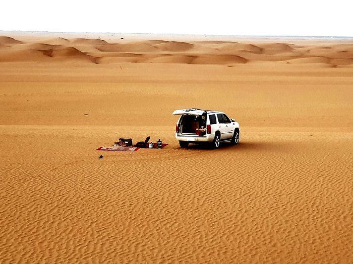 Sand Dune Desert Sand Sky Off-road Vehicle 4x4
