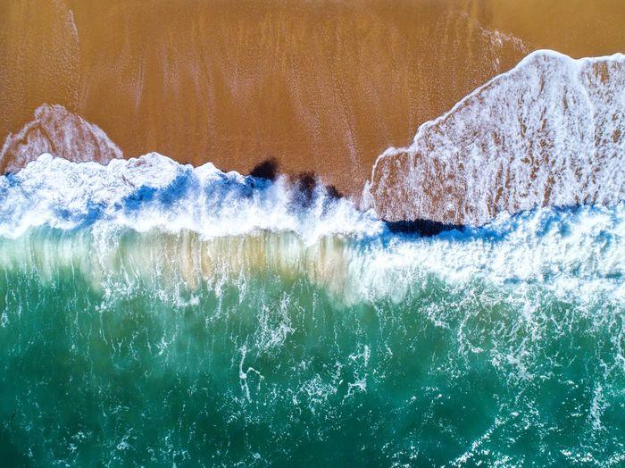 sea Sea Wave Drone  Dji Korea Green Cool Beach Emerald Sea