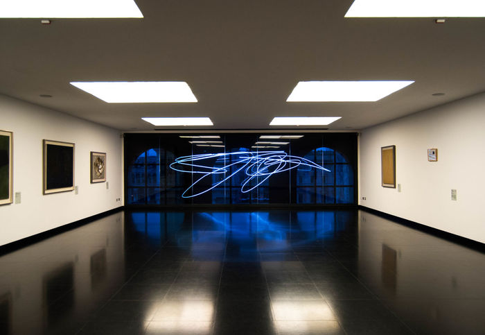Museo del novecento_Milano Architecture Blue Color Day Domestic Room Illuminated Indoors  Light Milano Modern Museo Del Novecento Museum Museum Of Modern Art No People Reflection Sala Fontana