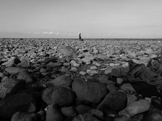 Stones Stone Stones And Pebbles Stones N Rocks Sky Black And White