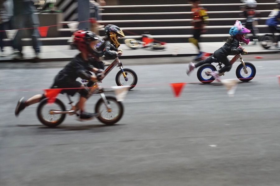 Bike Bike Ride Bikecycle Baby Babygirl Babyboy Riding Speed Real People Extreme Sports Sports Race Adventure Transportation Outdoors Skill  Blurred Motion Motion