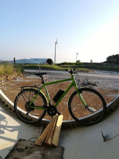 e biking Biking E-bike E-biking Craft Emobility Into Demontage Summerday Wind Turbine Wind Power Alternative Energy Fuel And Power Generation Sky Renewable Energy Industrial Windmill Sustainable Resources Sustainable Lifestyle Turbine