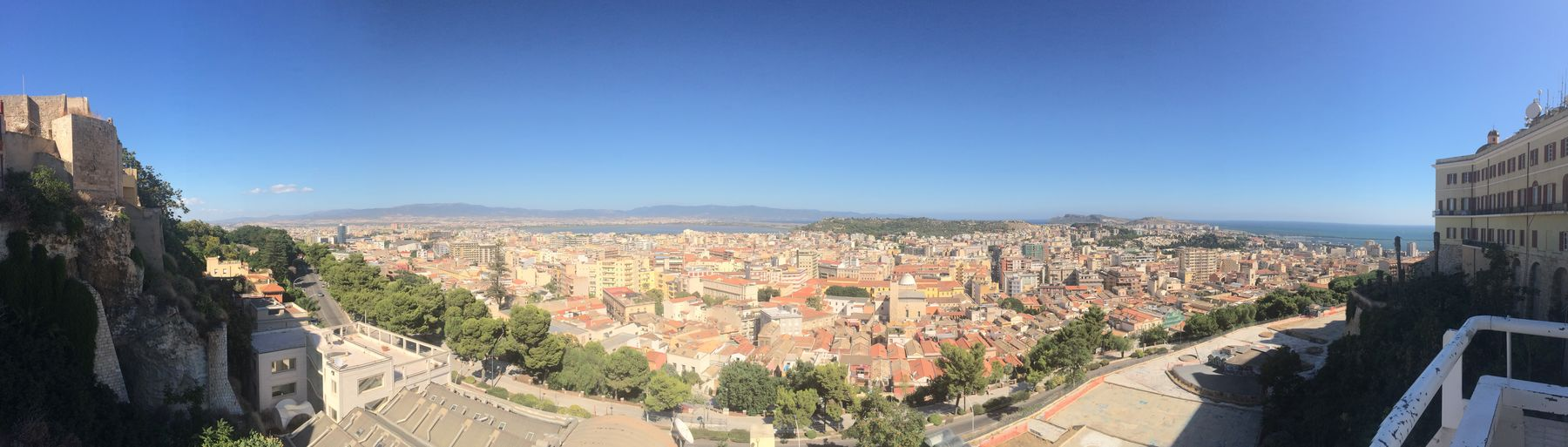 Panorama Cagliari Urban City View Urban Landscape Sardinia Sardegna Italy  Taking Photos