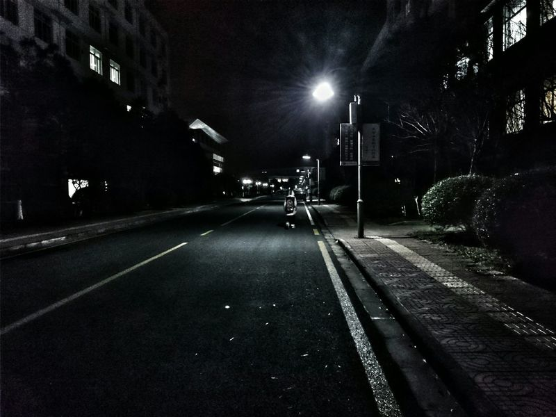 Night And Light Night Photography Night Lonely Person On The Road