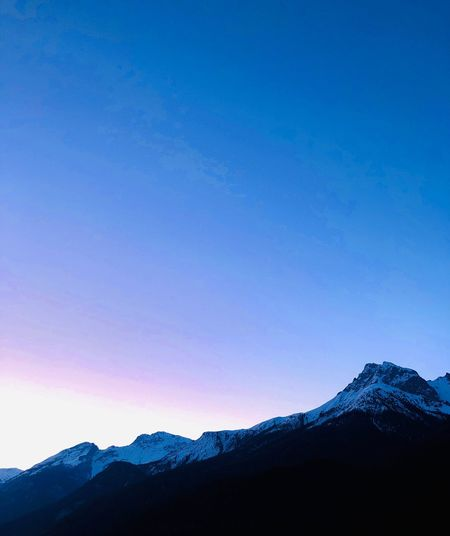 06:10 am Sky Mountain Blue Scenics - Nature Beauty In Nature Clear Sky Cold Temperature Nature Mountain Range Snow Tranquility Snowcapped Mountain No People Non-urban Scene Idyllic Outdoors