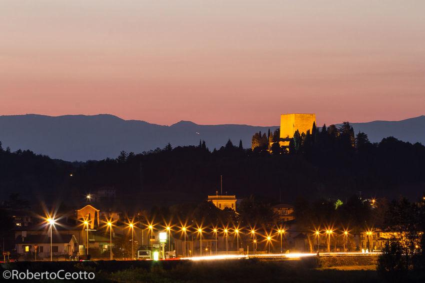 Discover Your City Nervesa Night Lights Street
