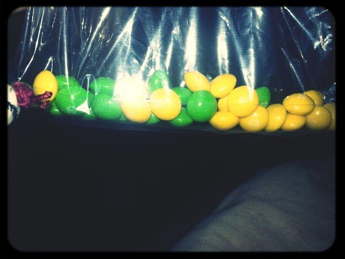 Green & Yellow Skittles
