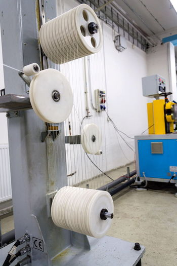 Machine part in factory