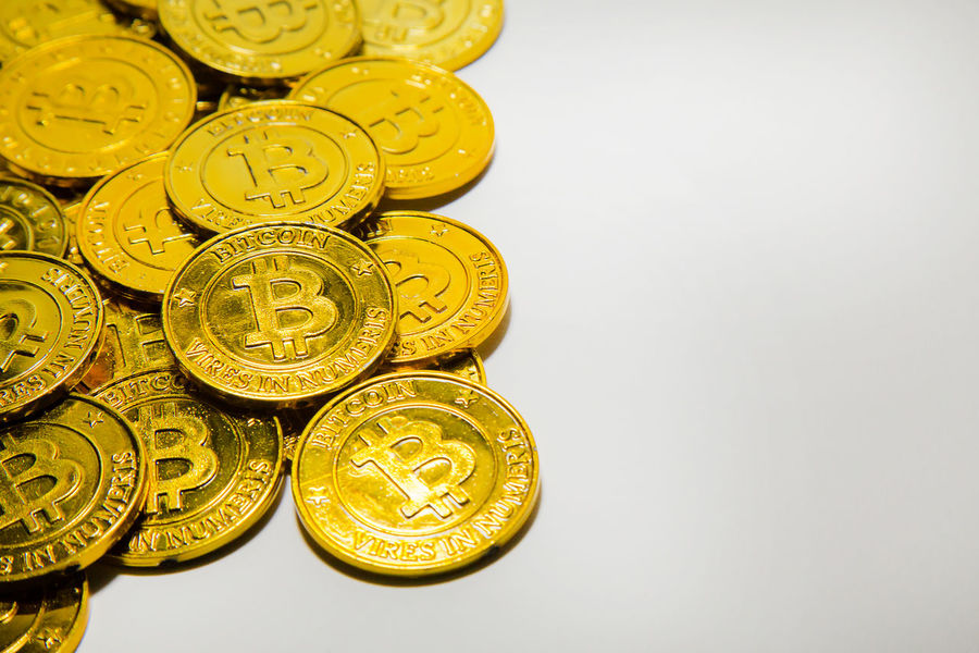 The Gold Bitcoinor BTC image Macro shots crypto currency Bitcoin coins electronic money. Bitcoin Bitcoin Cash Bitcoin Coin Bitcoin Miner Bitcoin Mining Bitcoin Stock Bitcoin Symbol Bitcoin Wallet Bitcoin Wallet App Bitcoins Close-up Coin Finance Gold Gold Colored Indoors  Large Group Of Objects No People Savings Studio Shot Wealth White Background Yellow