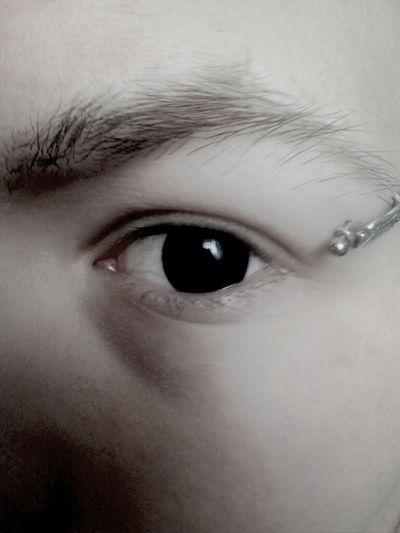 Eyes Blackandwhite Piercing Pandzia