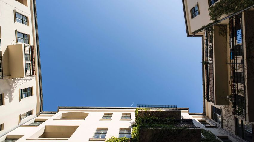 Berlin Architecture Built Structure Building Exterior Sky Building Clear Sky Residential District Day City Blue Low Angle View Nature Sunlight Window No People Copy Space Outdoors House Balcony Wall - Building Feature
