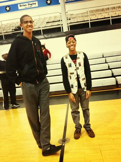 last night with my cousin at my brothers game.