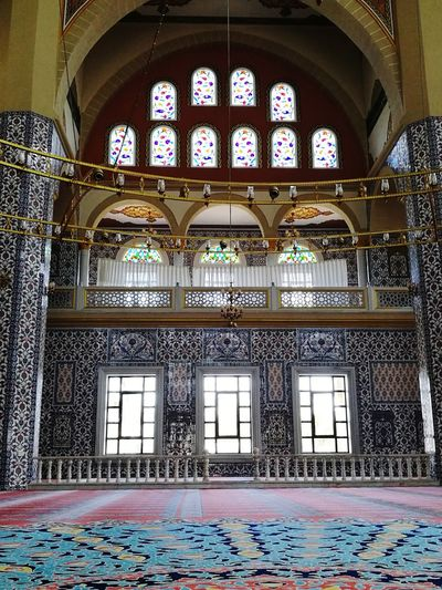 Geomatric Shapes Light And Shadow Columns Muslim Arts Art Meditation Peace Multi Colored Place Of Worship Window Arch Pattern Architecture Stained Glass Mosaic Fresco Architecture And Art Architectural Design Architectural Feature Chandelier Rose Window Tile Architectural Detail