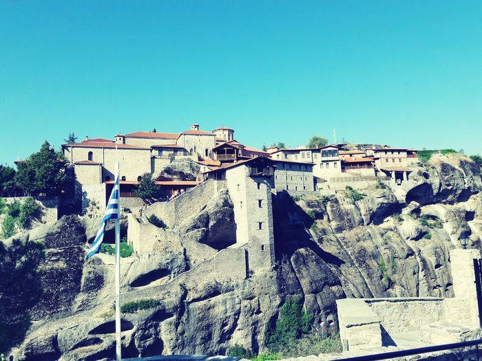 Architecture Clear Sky Stone Material History The Past Historic MonasteriesinGreece Meteora Meteora Kalampáka Greece