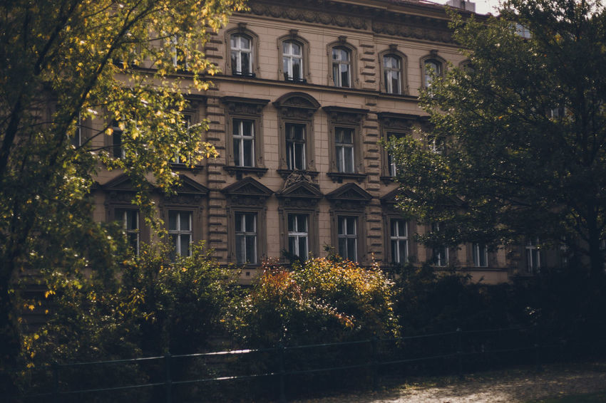 More: PART I: https://barbara-duchalska.blogspo PART II: https://barbara-duchalska.blogspo Prague Architecture Autumn Building Building Exterior Built Structure Change City Day Façade Growth History Nature No People Outdoors Plant Plant Part Residential District The Past Tree Window