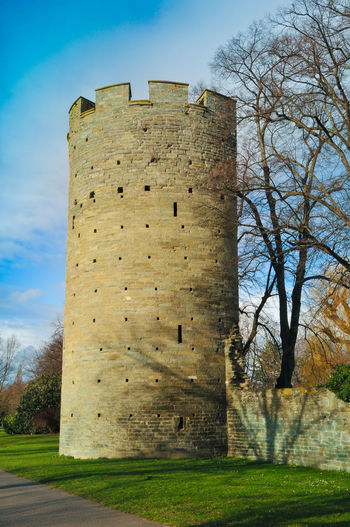 City Wall Architecture Bare Tree Fortress Fortress In Europe Outdoors Soest Tower