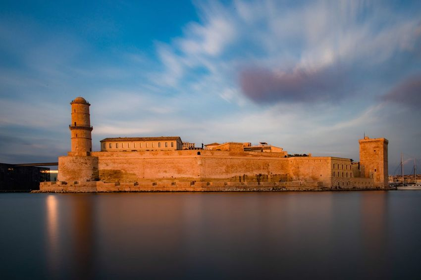 Castle ship Port Defence Fortress Fort Castle Building Exterior Seaside Sea And Sky Sea
