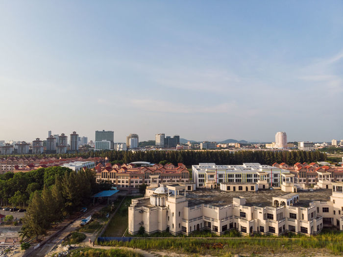 Malacca city, Malaysia Building Exterior Built Structure Architecture Cityscape Sky City Building Nature High Angle View Day Residential District Outdoors No People Drone  Droneshot Melaka Malacca Malaysia ASIA Landscape