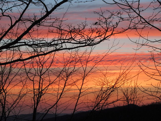 Sunset Beauty In Nature Nature Sky Orange Color Tranquility Romantic Sky Appenninotoscoemiliano Canon Ixus 285 Color Explosion NoFILTER :)