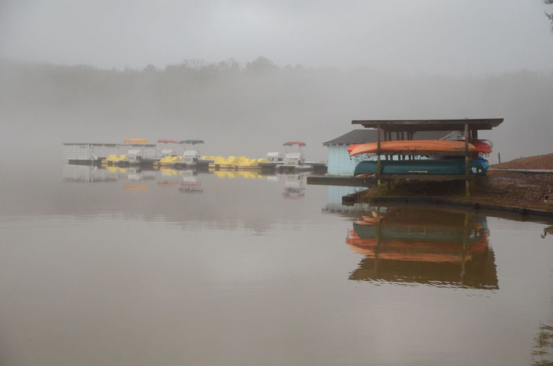 Water Fog Reflection Waterfront Nature Nautical Vessel Lake Transportation Built Structure Mode Of Transportation No People Building Exterior Architecture Tranquility Sky Day Outdoors Beauty In Nature New Years Day 2019