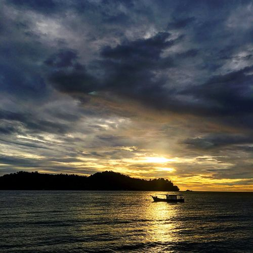 Sunset on Pangkor Island Beauty In Nature Sky Sea Silhouette Cloud - Sky Sunset Nature Water Nautical Vessel Tranquil Scene Outdoors Scenics No People Dramatic Sky Tranquility Day sunset