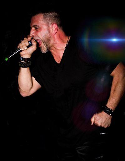 Eyeem Photo Expressive Band Singer  Men Males  Mature Men Holding Nightlife Music Human Face Black Background Night