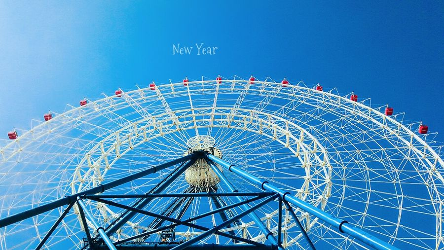 Hello 2017 💟Ferris Wheel Amusement Park Amusement Park Ride Blue Arts Culture And Entertainment Sky Outdoors Day Chain Swing Ride No People Big Wheel The View And The Spirit Of Taiwan 台灣景 台灣情 Neverstop Exploring Looking Through Window 臺灣 Taichung, Taiwan Street Light Day Dreaming Streetphotography Cityscape Iseetaiwan