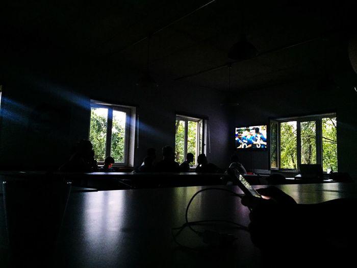 Movıe Football Indoors  Built Structure Architecture Window Flooring Illuminated