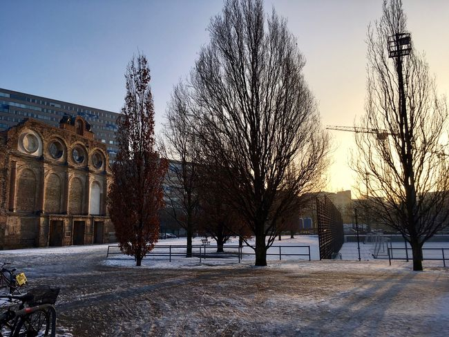 Anhalter Bahnhof Architecture Bare Tree Built Structure City Cold Temperature No People Snow Travel Destinations Tree Winter