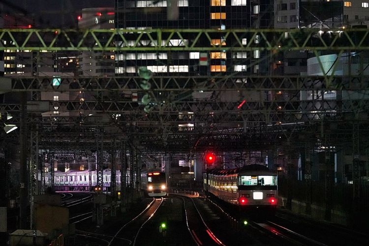 Night Lights Night City Tokyo Tokyo,Japan City Life Illuminated Architecture Transportation Built Structure City Building Exterior Mode Of Transportation Night No People Building