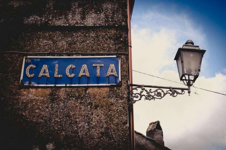 Paesaggio Calcata Italia Paese Lazio