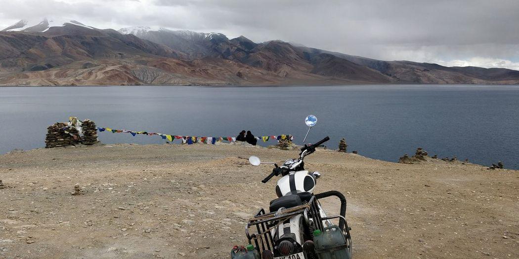 Destiny... N path India Ladakh Peyong Bike EyeEm Selects Mountain Lake Flamingo Water Landscape Sky Snowcapped Mountain Ski Track Mountain Range Mountain Road Rocky Mountains Cold Temperature Arid Landscape Scenics Tranquil Scene Hiker