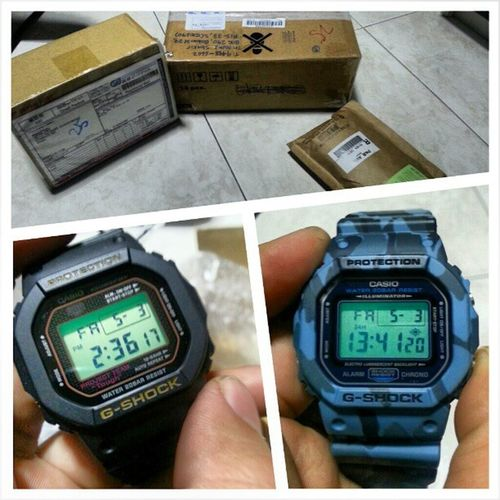My life is a bit more complete now.. Got my 30th anniversary Dw5030 Gshock and my Dw5600 G-python!! Hahaha..