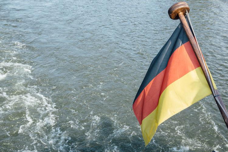Close-Up Of German Flag