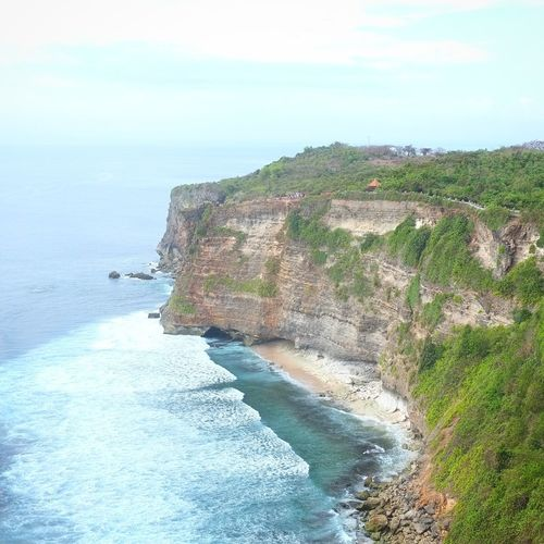 Uluwatu Cliff Bali, Indonesia Water Outdoors Nature First Eyeem Photo Indonesia_photography Bali Summer Uluwatu Temple Uluwatu Bali Cliffs Cliff Edge Sea Beach Horizon Over Water Scenics Sand Tranquility Day Tranquil Scene Sky Beauty In Nature No People