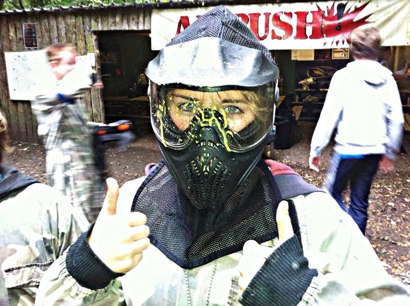 Paintballing Taking Photos That's Me Headshot