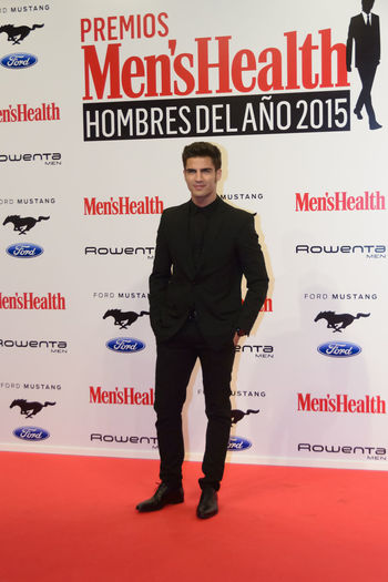 Maxi Iglesias, actor, during the photocall for the Men's Health Man of the Year 2015 Awards (Premios Hombres Del Año 2015). Madrid, Spain 28th January 2016. Actor Awards Celebrity Editorial  Men Men's Health Man Of The Year 2015 Awards Photocall Real People Red Carpet Redcarpet Standing Vip Young Men