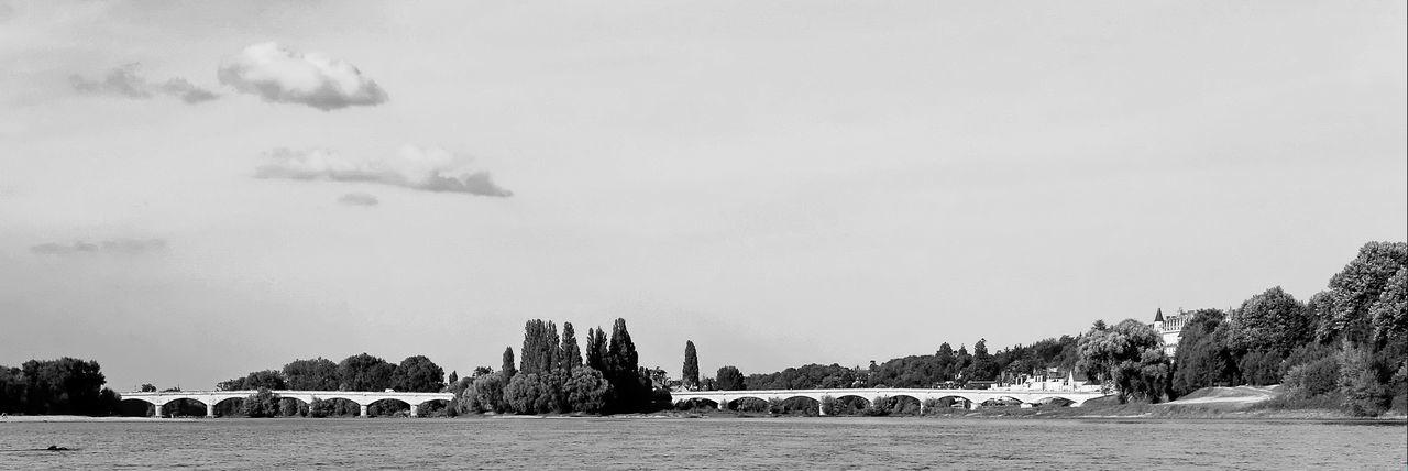Ponts d'Amboise. Touraine Amboise Loire Pont Bridge Noir Et Blanc Blackandwhite Black And White EyeEm Best Shots - Black + White Blackandwhite Photography